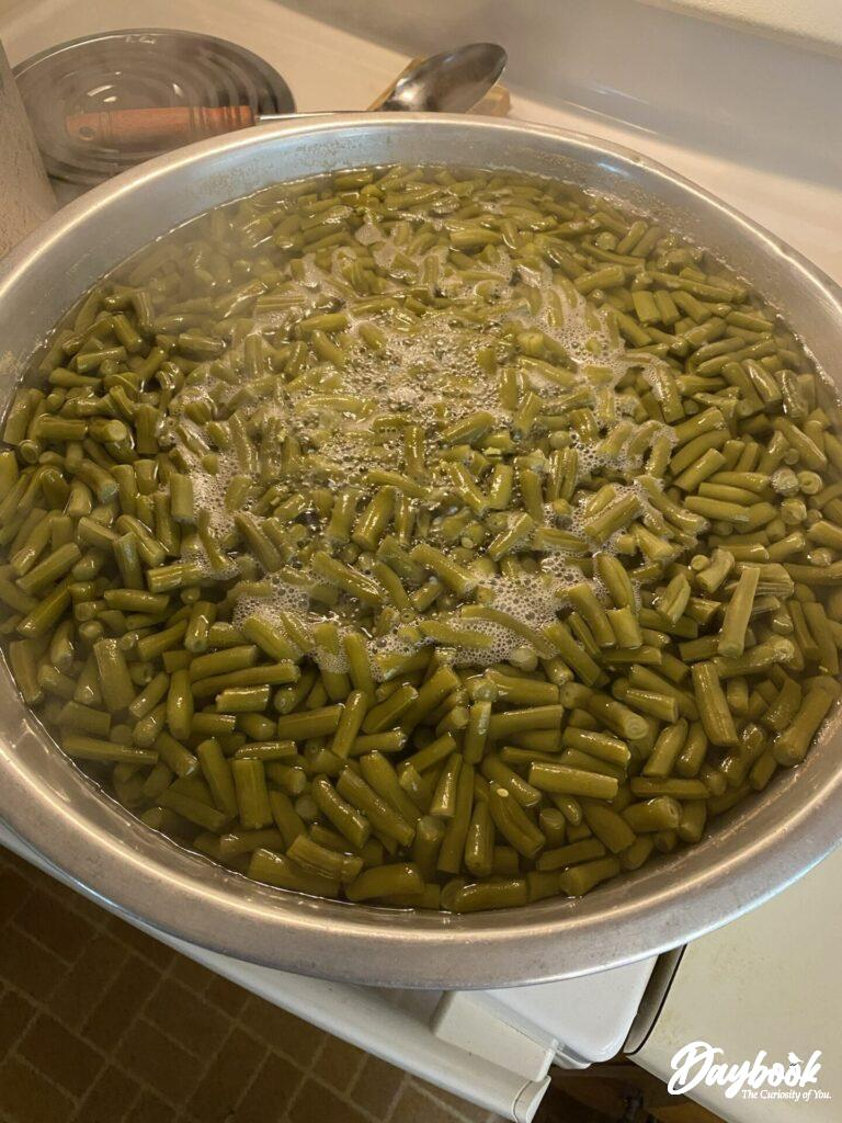 cooking green beans for canning