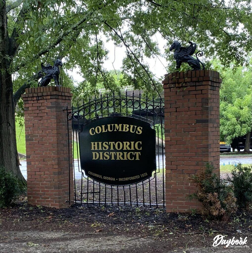 City of Columbus, GA historic district sign