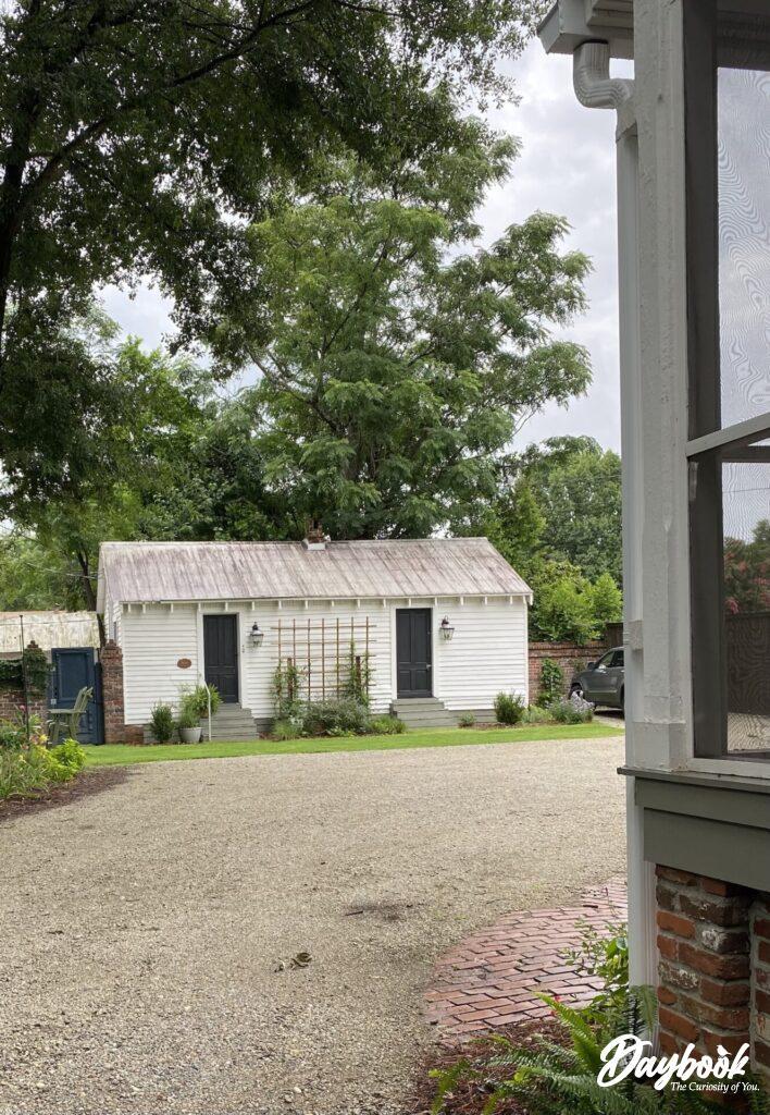 backyard cottage with double doors