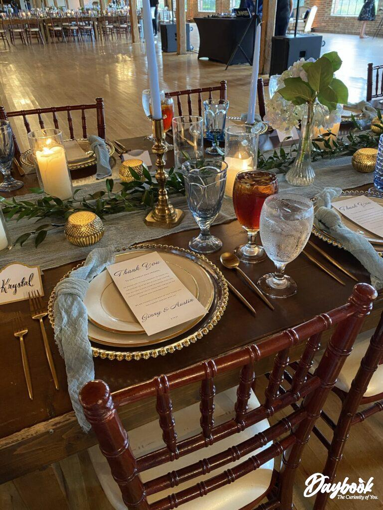 an event dinner place setting
