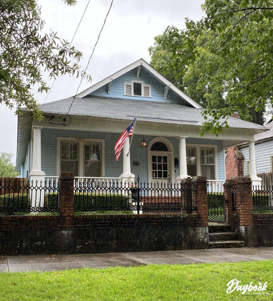 blue historic home