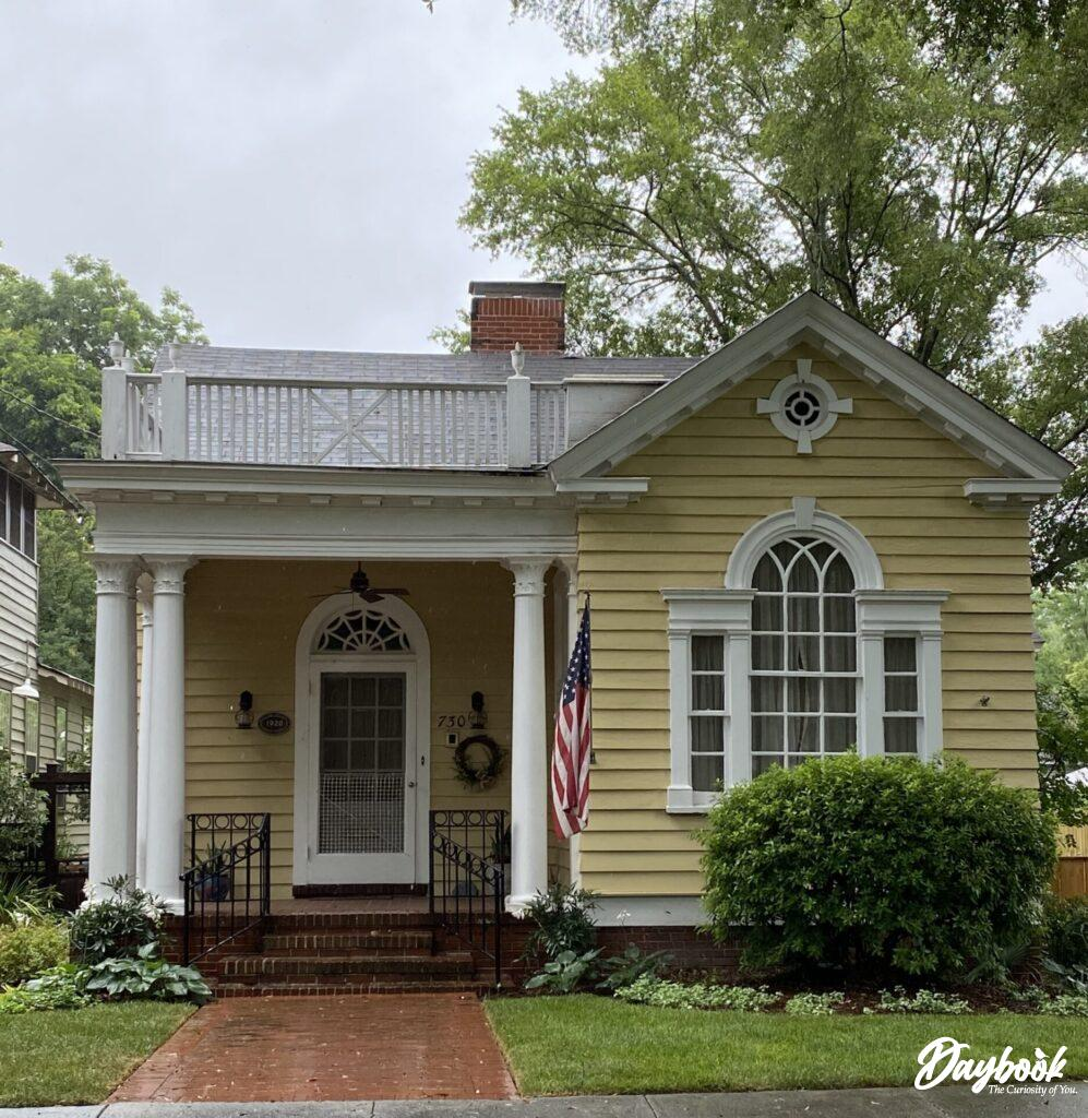 yellow historic home