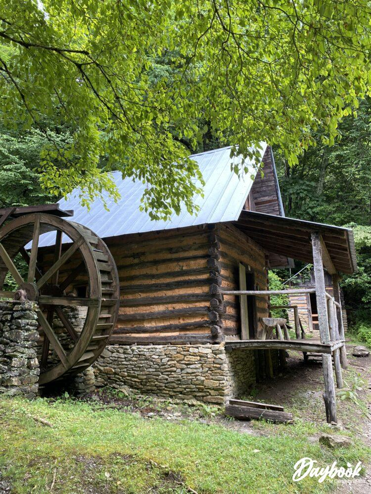 Museum with water wheel