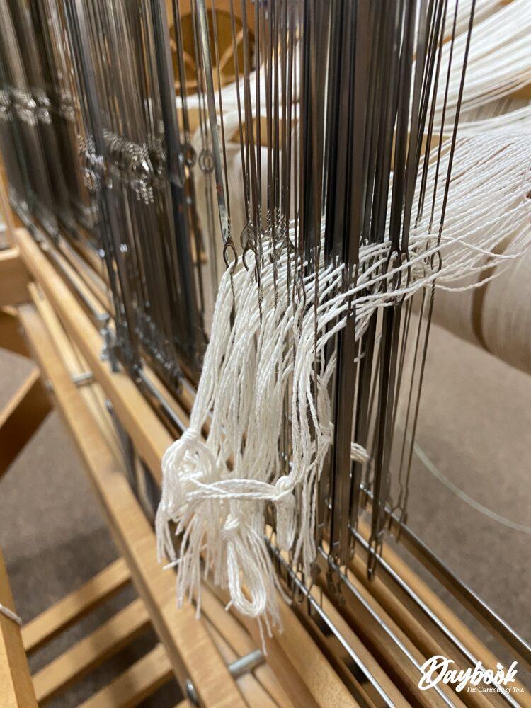 Loom being threaded