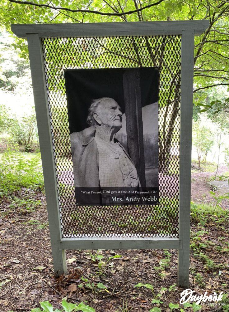 banner with Appalachian woman and quote