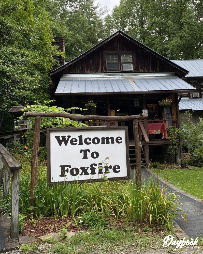 Front of the Foxfire Museum in Mountain City, GA