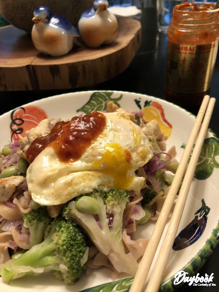 Asian inspired dinner in a bowl