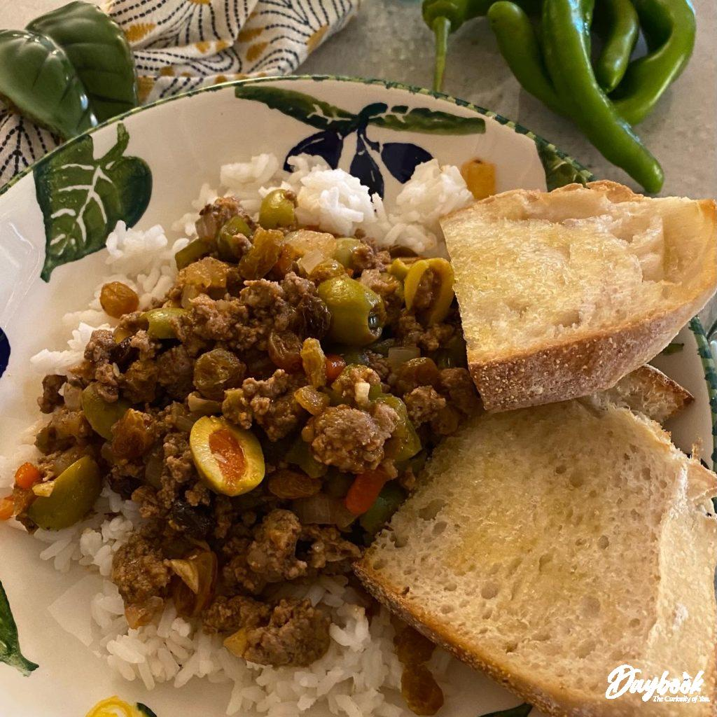 Cuban Picadillo in a bowl