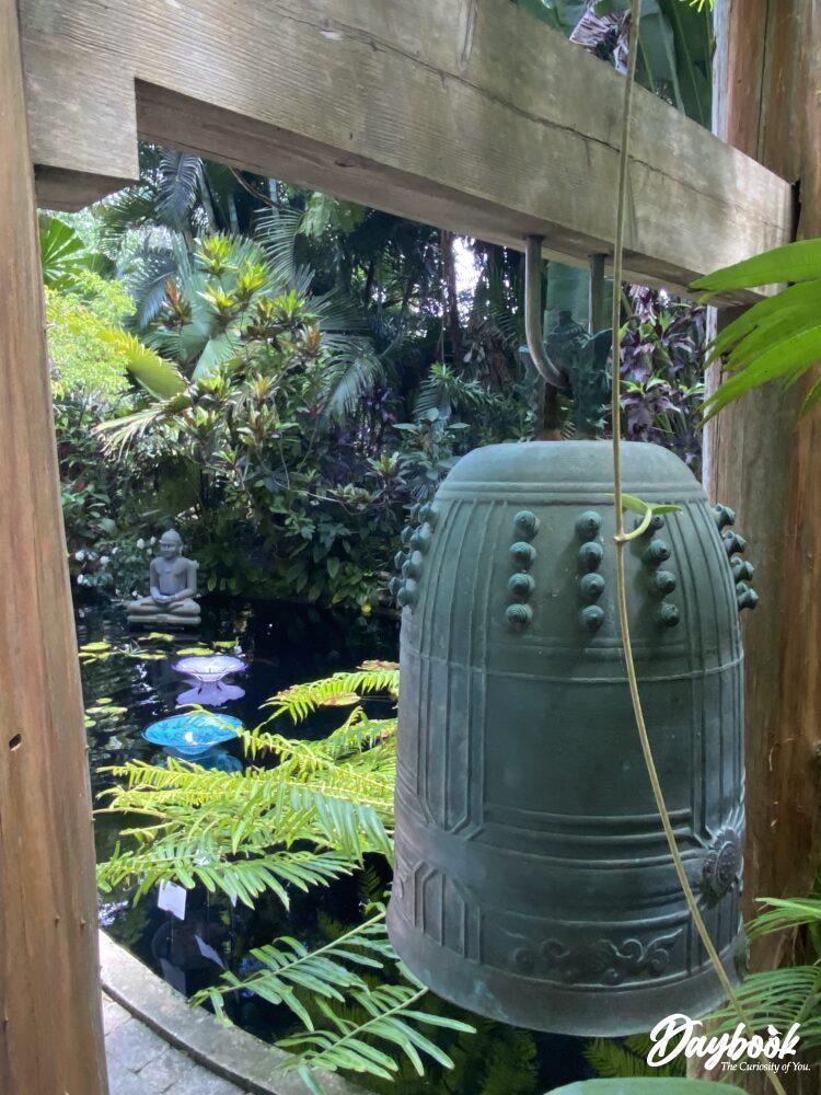 artwork in a water garden